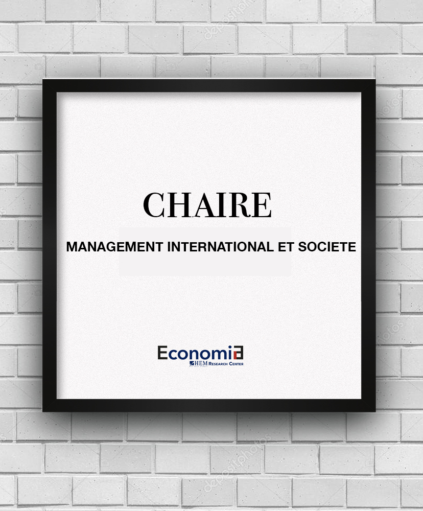 CHAIRE MANAGEMENT INTERNATIONAL ET SOCIETE