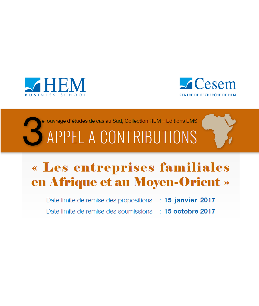 APPEL A CONTRIBUTIONS / Call for case studies contributions