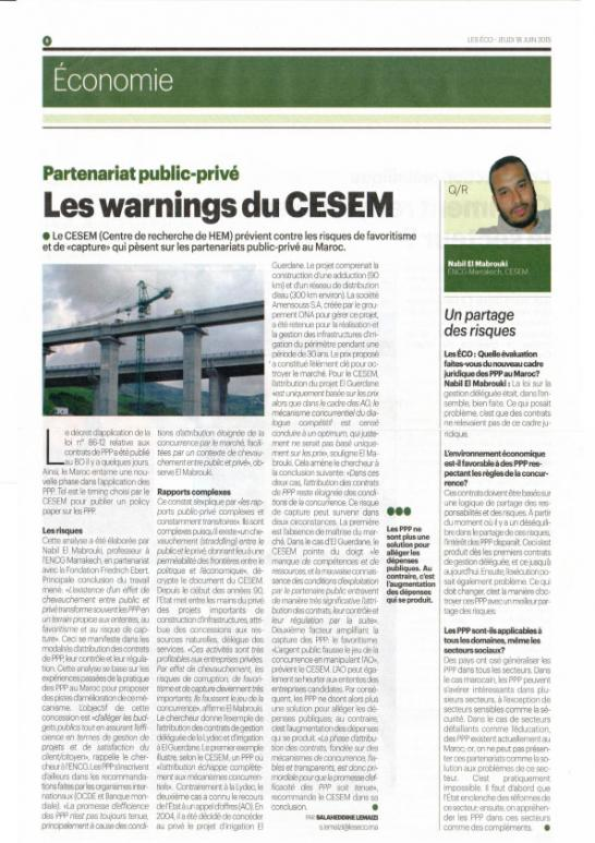 Les warnings du CESEM